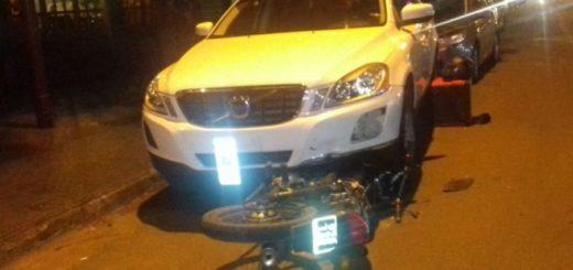 Motociclista de 16 años resultó gravemente lesionado tras un choque en Iguazú
