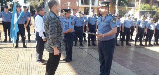 La Unidad Regional II de la Policía rindió un emotivo homenaje a los héroes de Malvinas