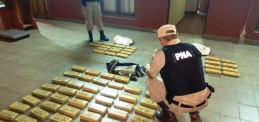 Prefectura incautó más de 60 kilos de marihuana en Puerto Maní