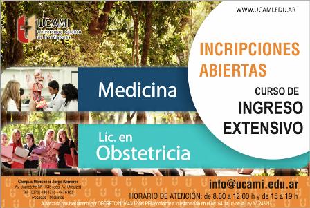 La UCAMI abrió las inscripciones al Curso de Ingreso Extensivo para las carreras de Medicina y Lic. en Obstetricia