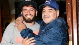 Maradona anunció por redes sociales el nacimiento de su nieto Diego Matías, hijo de Diego Jr.