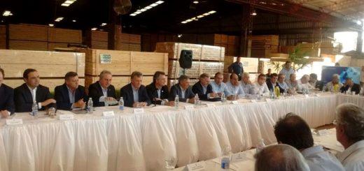 Inició en Esperanza la reunión de trabajo de Macri con la Mesa de la Cadena Foresto-industrial en el aserradero de Pindó
