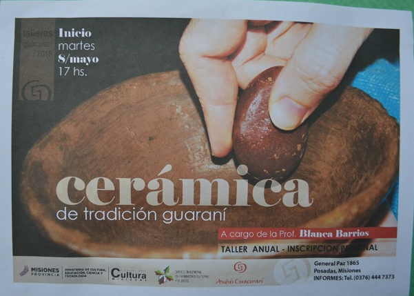 El 8 de mayo comenzará el taller anual de «Cerámica de Tradición Guaraní» en el Museo Andrés Guacurarí de Posadas