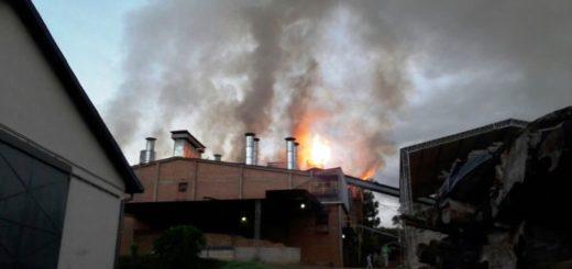 Se incendia el secadero Imhof de 9 de Julio