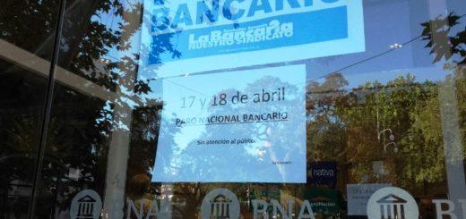 Hoy y mañana se desarrolla el paro bancario