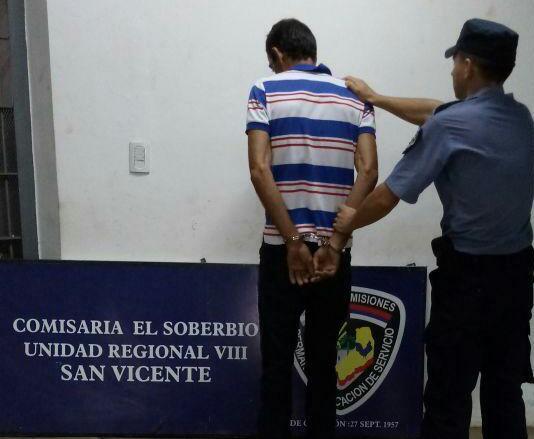 Lo detuvieron por amenazar reiteradamente a su pareja en El Soberbio
