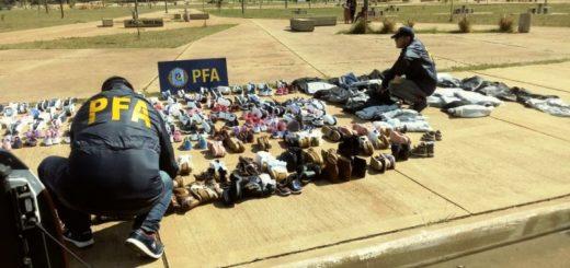 La Policía Federal incautó mercadería de contrabando