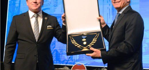 Macri fue distinguido por la CONMEBOL por su aporte al desarrollo del fútbol sudamericano