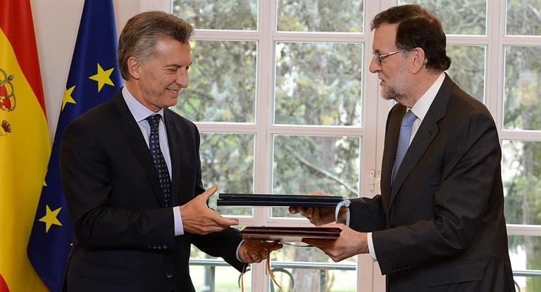 Macri dijo que espera que Rajoy lo ayude a convencer a los españoles de que «son muy bienvenidos»