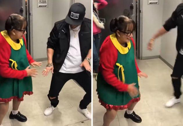 La Chilindrina aprendió a bailar reggaetón a sus 67 años y es furor en las redes