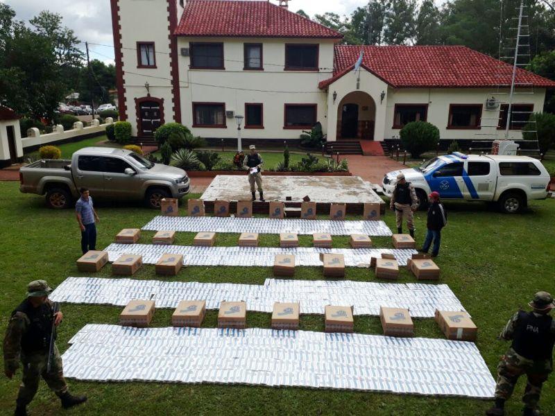 Secuestraron un cargamento ilegal de cigarrillos valuado en más de 770 mil pesos en San Javier