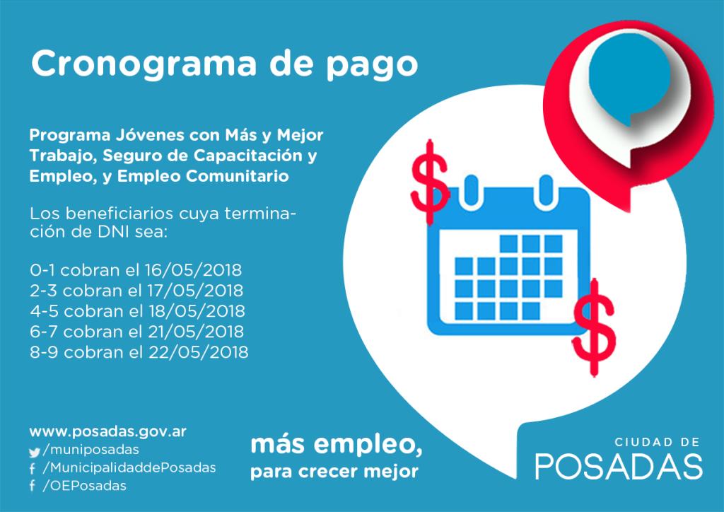 Este miércoles comienza el pago de los programas sociales de la Oficina de Empleo de Posadas