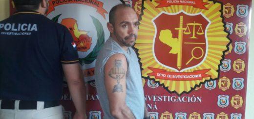 Peligroso homicida brasileño fue detenido en Encarnación, donde vivía con identidad falsa