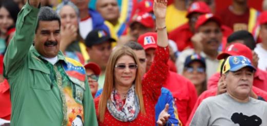 Maradona estuvo presente y bailó reggaeton en el cierre de campaña de Maduro en Venezuela