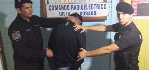 Detuvieron a un arrebatador en Eldorado y en su poder recuperaron un celular
