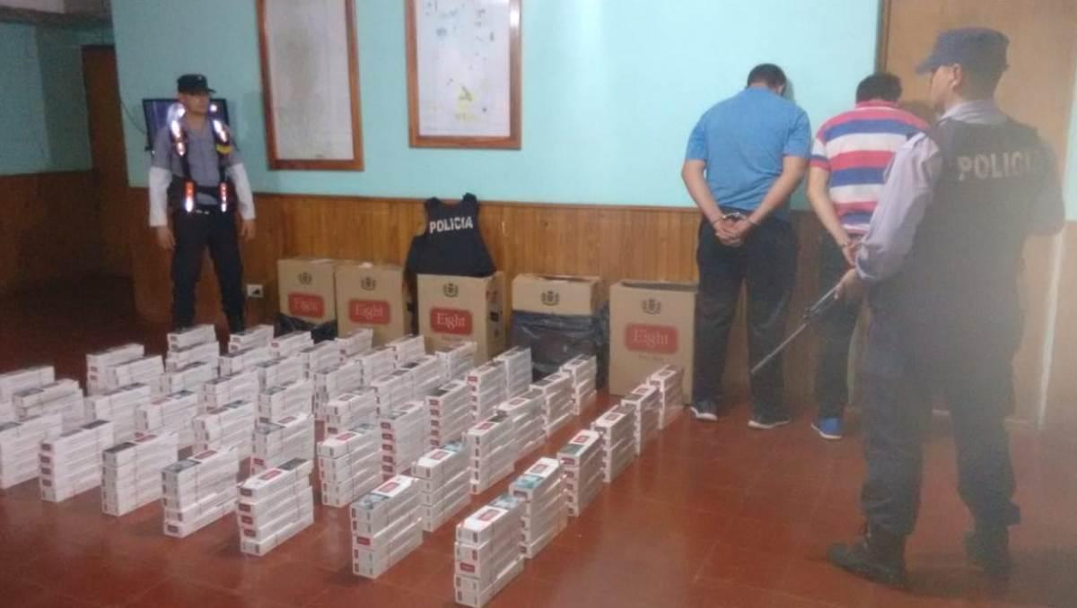 Contrabandistas de cigarrillos evadieron control policial y cayeron tras persecución en Dos de Mayo
