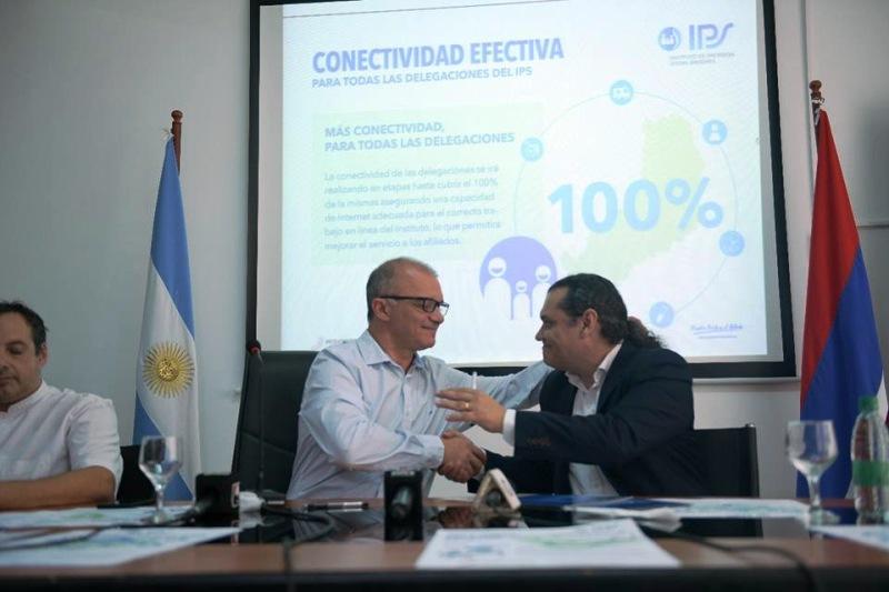 Se anunció sistema de gestión documental electrónica y también conectividad efectiva para delegaciones del IPS