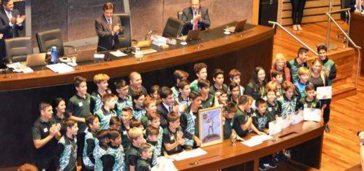 Indiecitos del Club Andrés Guacurarí homenajeados en la Cámara de Representantes