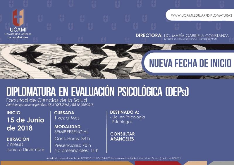 La UCAMI ofrece una Diplomatura en Evaluación Psicológica que comienza el 15 de junio