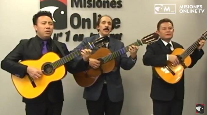 El legendario Trío Los Panchos dejó sus románticas melodías durante una entrevista con Misiones Online