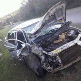 Una mujer lesionada en Oberá al chocar un auto con un camión en la ruta 14