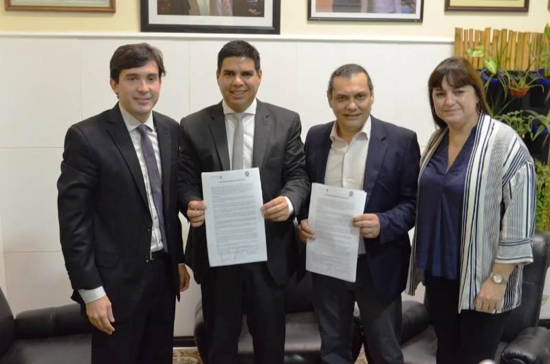 El Concejo Deliberante firmó un convenio para mayor optimización de los recursos administrativos