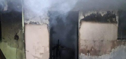Socorrieron a un hombre de 50 años al incendiarse su vivienda en Garupá