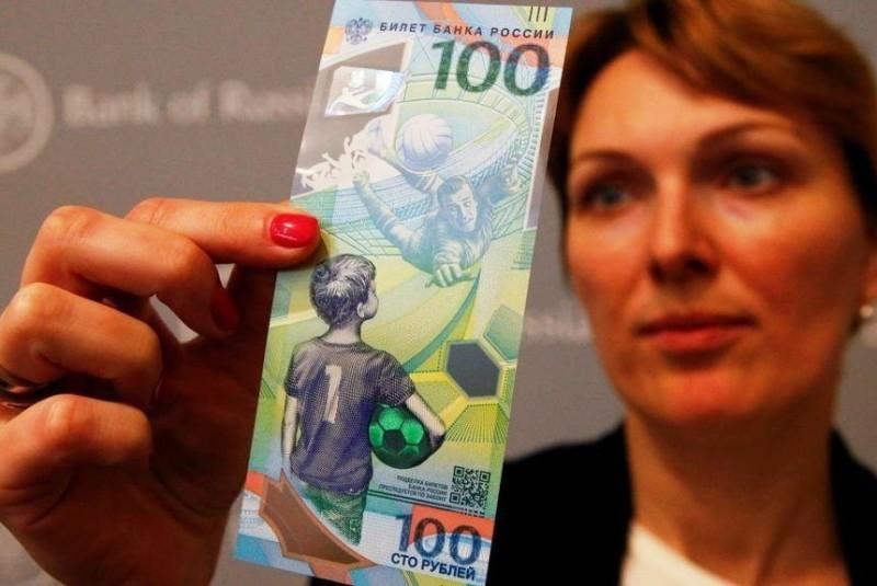 #Mundial2018: Rusia emitió un billete de 100 rublos en conmemoración a la Copa del Mundo