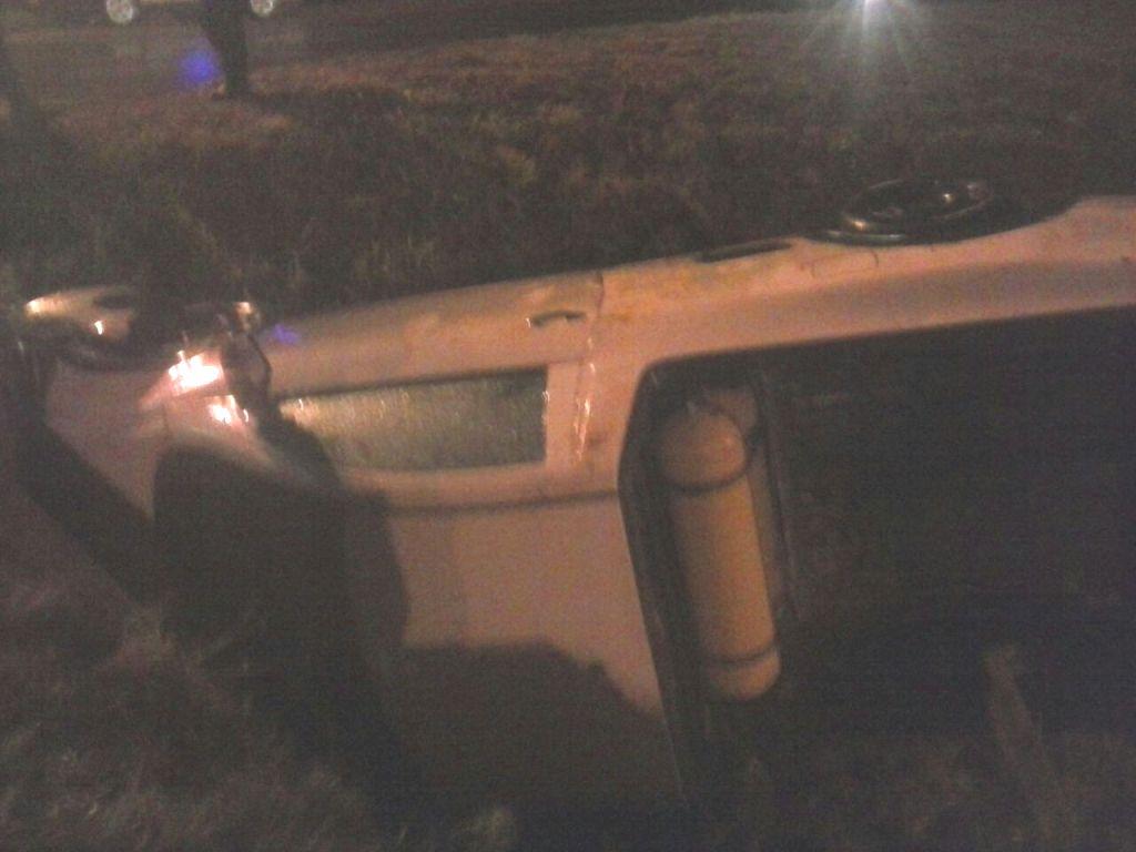 Se despistó una camioneta en la ruta 14 y dio contra una alcantarilla