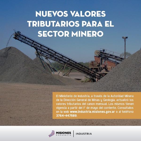 Misiones actualiza los valores tributarios para el sector minero