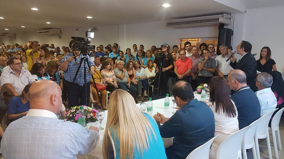 Elecciones en el IPS: en un masivo acto, la lista Celeste y Blanca presentó a sus candidatos para las ramas pasiva y activa