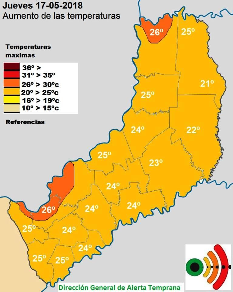 Jueves con buen tiempo en zona sur pero con inestabilidad para el centro y norte de Misiones