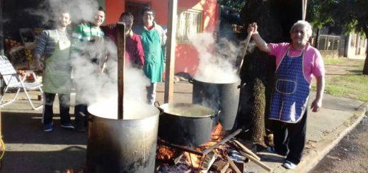 Festejos Patrios: ya se cocina el locro en distintas calles e instituciones de la ciudad de Posadas