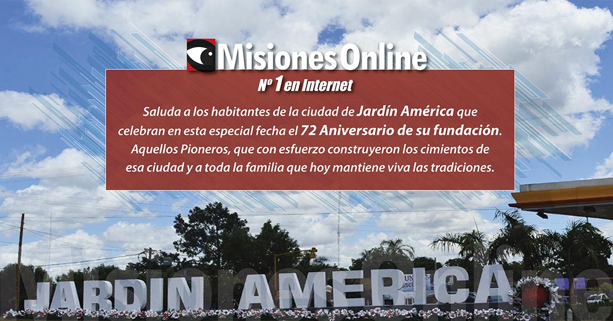 7 de mayo: hoy Jardín América celebra sus 72 años de fundación