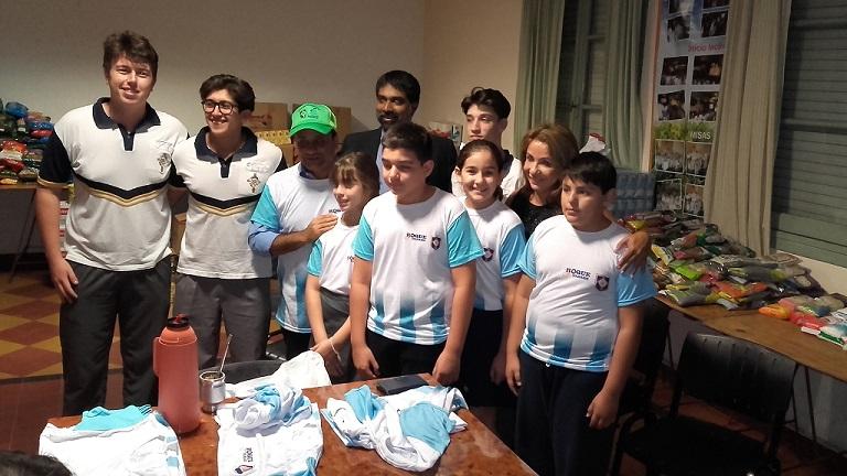 Herrera Ahuad destacó el espíritu de ayuda de los jóvenes en el marco de otra bicicleteada solidaria del Roque González