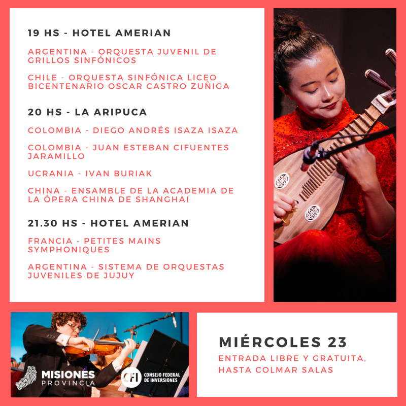 Iguazú en Concierto: éste es el cronograma para la jornada de hoy