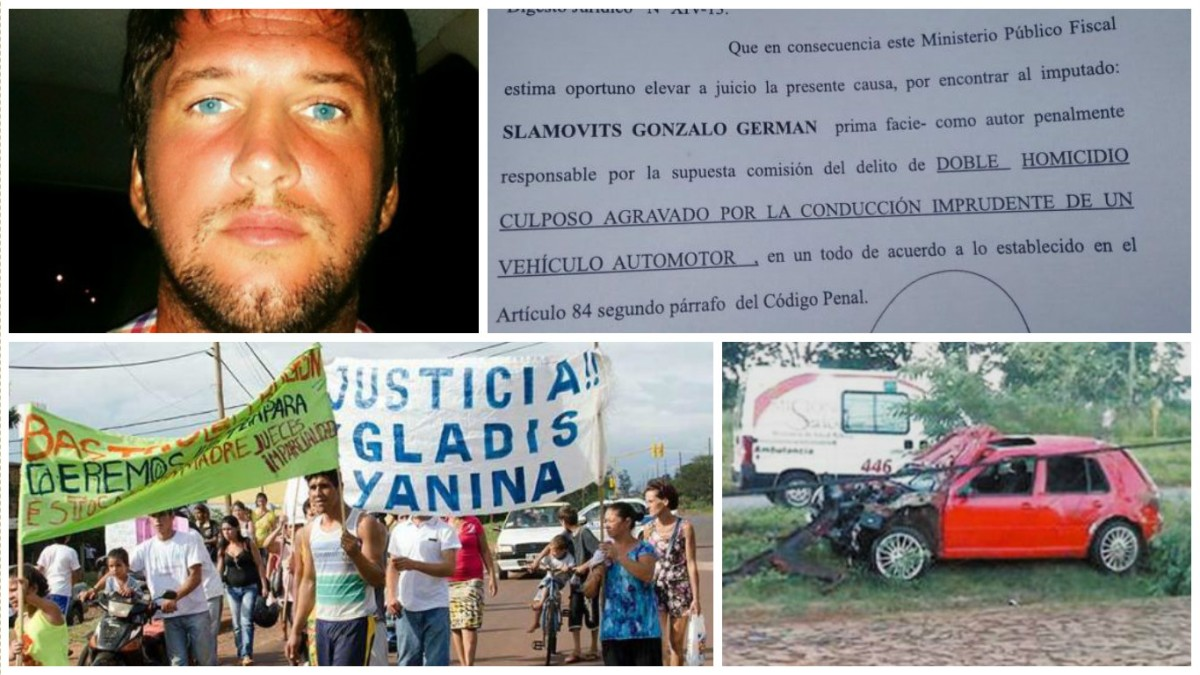 El 15 de agosto será enjuiciado Gonzálo Slámotivs, acusado de chocar y matar a dos amigas en Posadas
