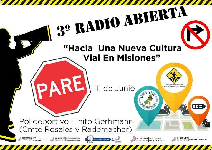 Se viene la tercera edición de Radio Abierta en el marco del programa de Seguridad Vial en las escuelas de Misiones