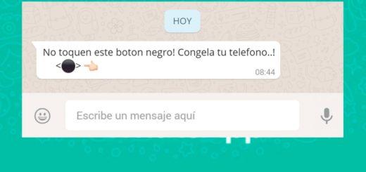 Mensaje viral en WhatsApp: ¿de qué se trata el botón negro y por qué te cuelga el teléfono cuando lo tocás?
