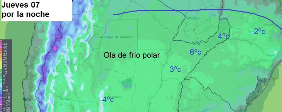 Martes con tiempo inestable en Misiones y se acerca la ola polar