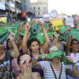 A tres días de la votación en el Congreso, Posadas también tuvo su marcha en contra de la despenalización del aborto