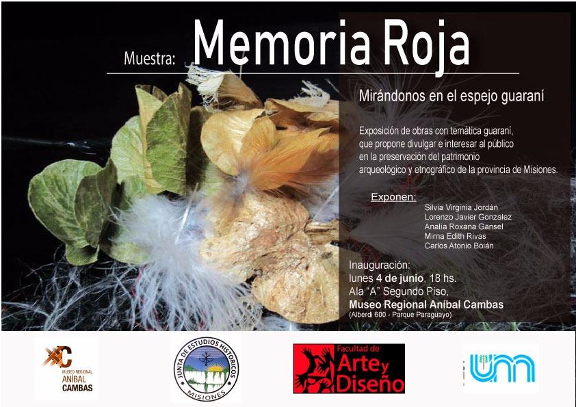 """Inaugurarán la Muestra """"Memoria Roja"""" en el Museo Cambas"""