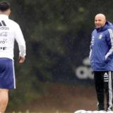 #Mundial2018: La Selección entrenó en Barcelona y hubo ejercicios con pelota