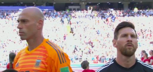 #Mundial2018: Por qué Wilfredo Caballero le dio la espalda a Lionel Messi durante el himno