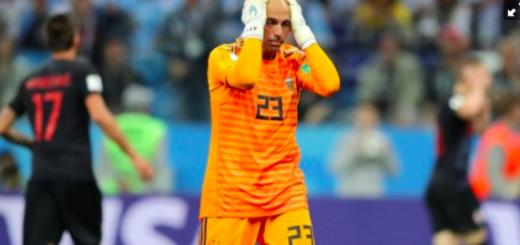 #Mundial2018: Caballero habló por primera vez tras su error en el arco ante Croacia