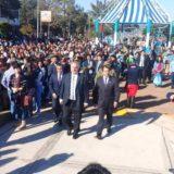 En emotivo acto en Candelaria, Passalacqua tomó la promesa a la bandera a alumnos de cuarto grado