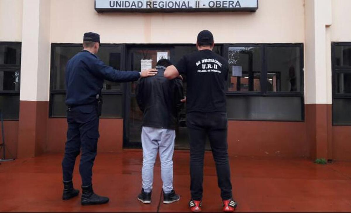 Oberá: apenas volvió de Buenos Aires en micro, lo detuvieron por un asalto ocurrido en Guaraní