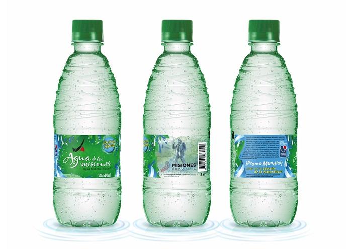 #Mundial2018: Aguas de las Misiones presentará una botella edición limitada con los colores de la Selección