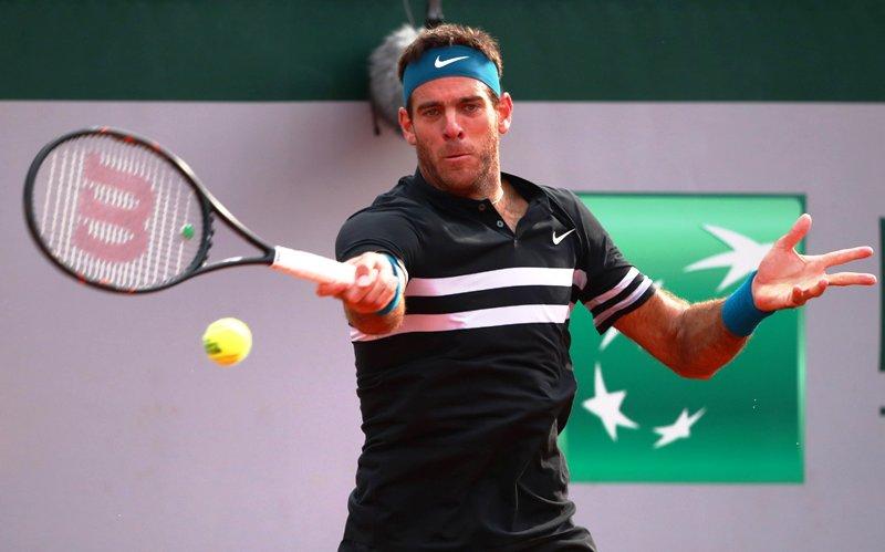 Del Potro le ganó a John Isner y se instala en cuartos de finales del Rolan Garros