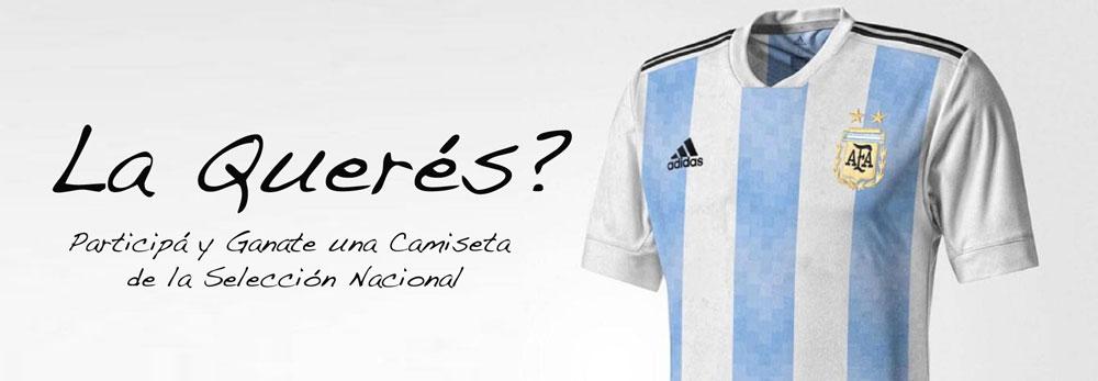 Desafío Mundial: ganate una camiseta oficial de la Selección Argentina